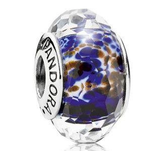 Sea Glass Faceted Murano Glass